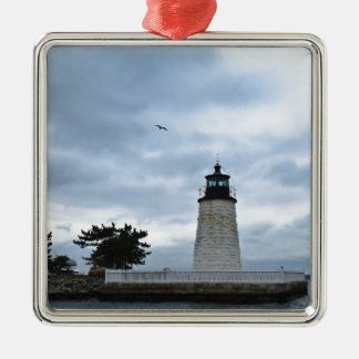 Newport Harbor Lighthouse Metal Ornament