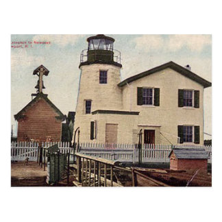 Newport Harbor Lighthouse Postcard