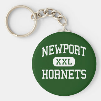 Newport - Hornets - Junior - Newport Maine Basic Round Button Key Ring