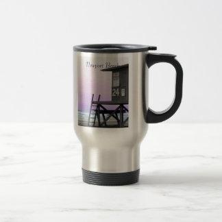 Newport Lifeguard Tower Tinted Photo Mug