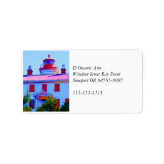 Newport Lighthouse Address Label