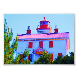 Newport Lighthouse Art Photo
