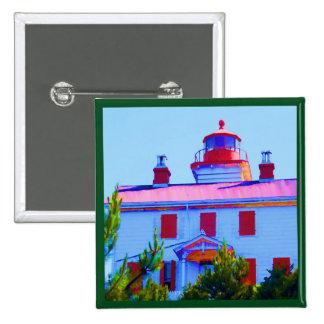Newport Lighthouse at Yaquina Bay 15 Cm Square Badge