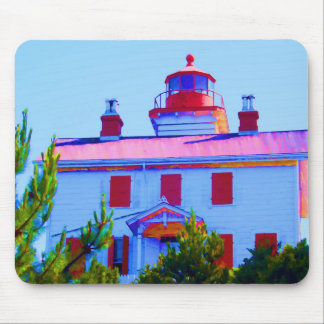 Newport Lighthouse at Yaquina Bay Mouse Pad