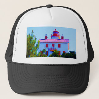 Newport Lighthouse at Yaquina Bay Trucker Hat