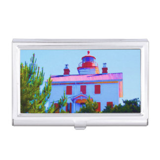 Newport Lighthouse Business Card Holder