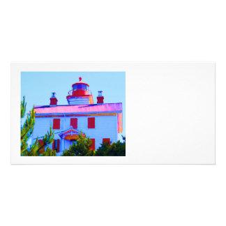 Newport Lighthouse Customized Photo Card