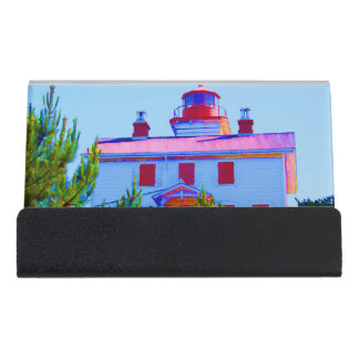 Newport Lighthouse Desk Business Card Holder