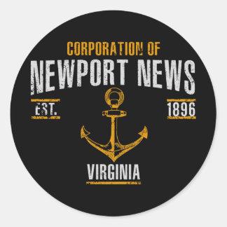 Newport News Classic Round Sticker