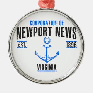 Newport News Metal Ornament