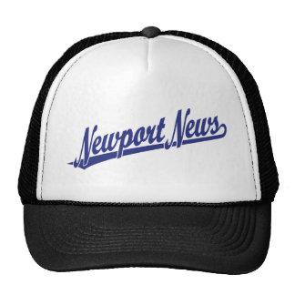 Newport News script logo in blue Cap