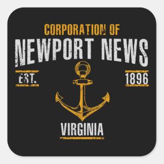 Newport News Square Sticker