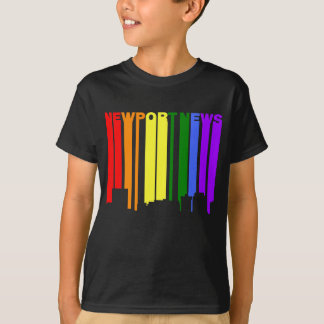 Newport News Virginia Gay Pride Rainbow Skyline T-Shirt
