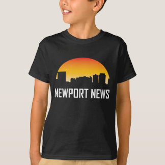 Newport News Virginia Sunset Skyline T-Shirt