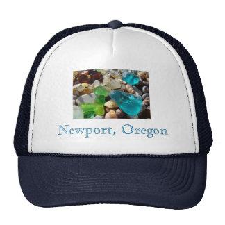 Newport Oregon Truckers Hats Sea Glass Agates