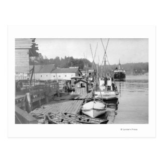 Newport, Oregon Waterfront View of Fishing Boats Post Card