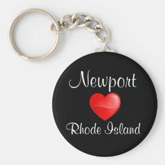 Newport Rhode Island Heart Budget Key Chain