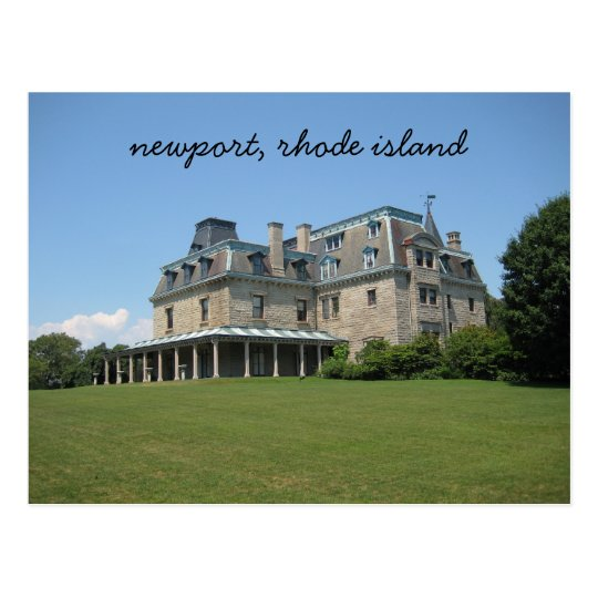 Newport, Rhode Island mansion Postcard