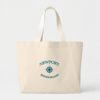 Newport Rhode Island Nautical Large Tote Bag