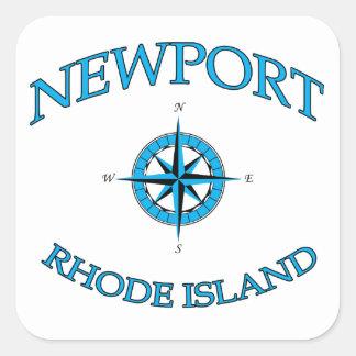 Newport Rhode Island Nautical Square Sticker