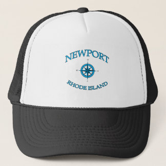 Newport Rhode Island Nautical Trucker Hat