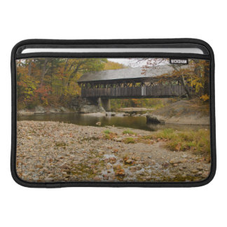 Newry Covered Bridge over river in autumn MacBook Air Sleeves