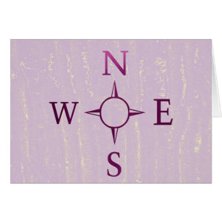 NEWS : Compass North East West South Greeting Card