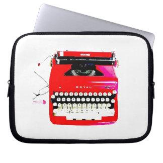 news reporter writer journalist Typewriter Laptop Computer Sleeve