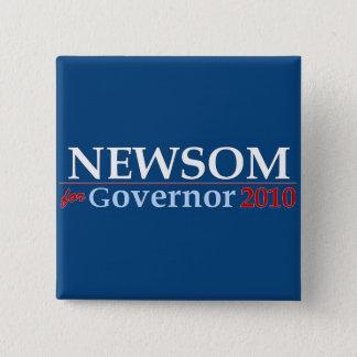 Newsom for Governor 15 Cm Square Badge