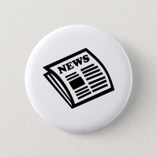 Newspaper 6 Cm Round Badge