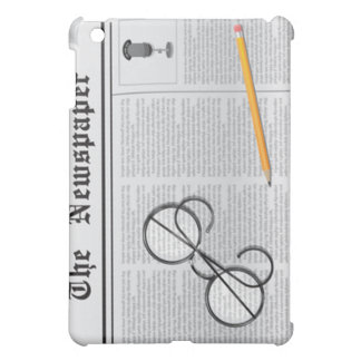 newspaper glasses and pencil  cover for the iPad mini