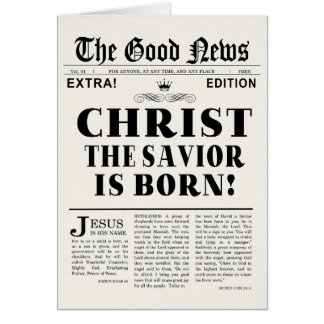 Newspaper Headline Christmas Card