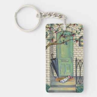 Newspaper Porch Keychain