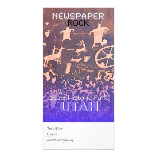 Newspaper Rock Picture Card