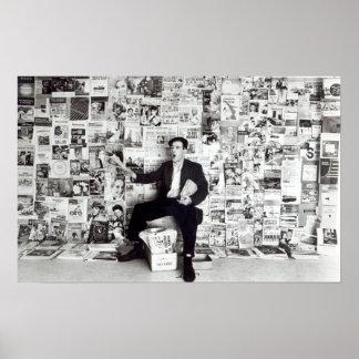 Newspaper salesman, c.1960 poster