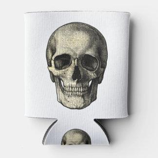 Newspaper skull can cooler