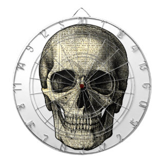 Newspaper skull dartboard