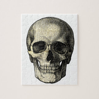 Newspaper skull jigsaw puzzle
