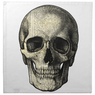 Newspaper skull napkin