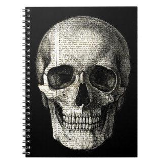 Newspaper skull notebooks