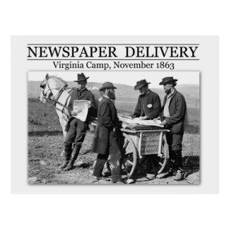Newspaper vendor during the Civil War Postcard