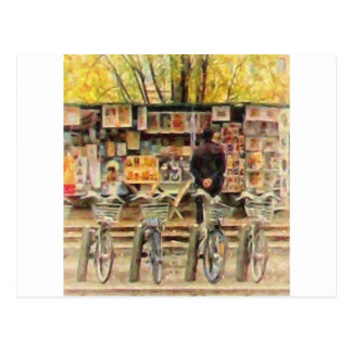 Newstand Quai Malaquais Paris France by Shawna Mac Postcard