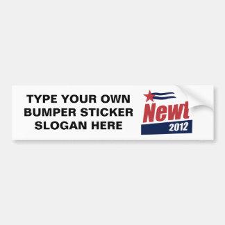 Newt 2012 banner bumper sticker