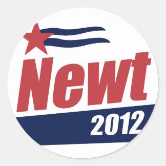 Newt 2012 banner round sticker