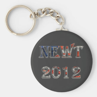 Newt 2012 - Newt Gingrich for President Basic Round Button Key Ring