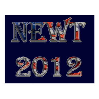 Newt 2012 - Newt Gingrich for President Postcard