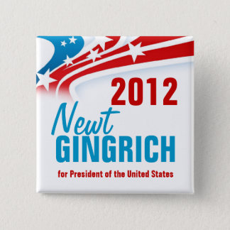 Newt Gingich 15 Cm Square Badge