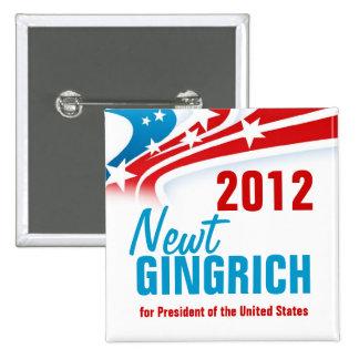 Newt Gingich 15 Cm Square Badge