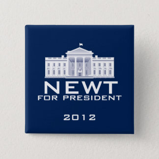 Newt Gingrich 2012 15 Cm Square Badge