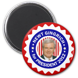 Newt Gingrich 2012 for President 6 Cm Round Magnet